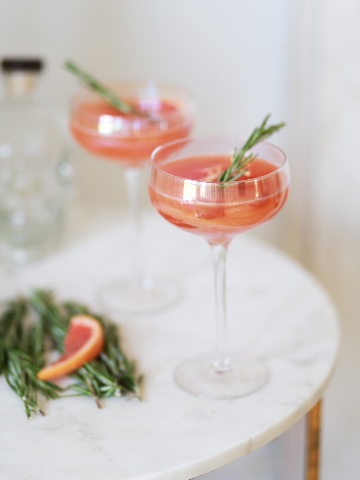 Grapefruit & Elderflower Cocktails.