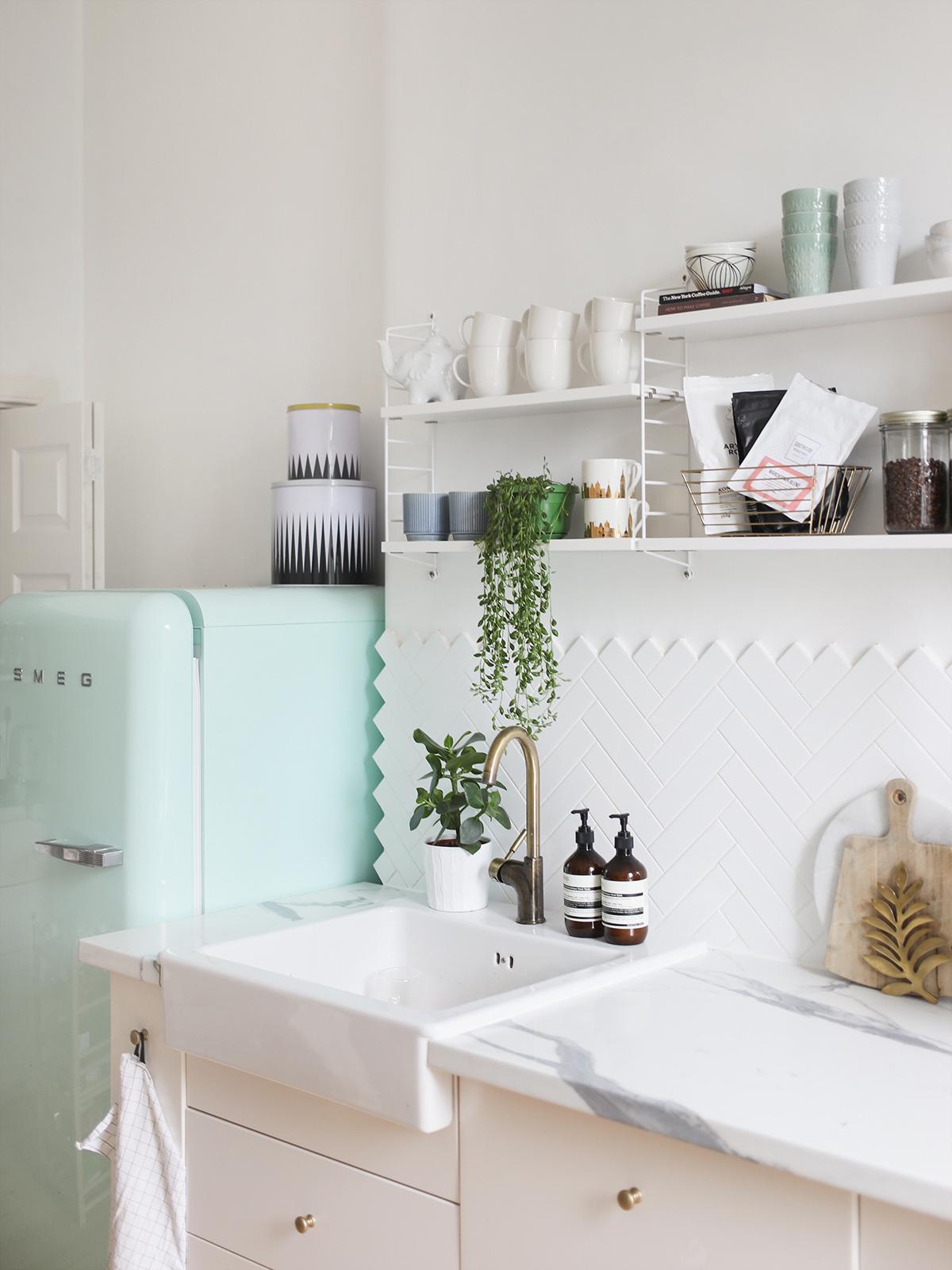 Open Shelving In Our Kitchen KATE LA VIE
