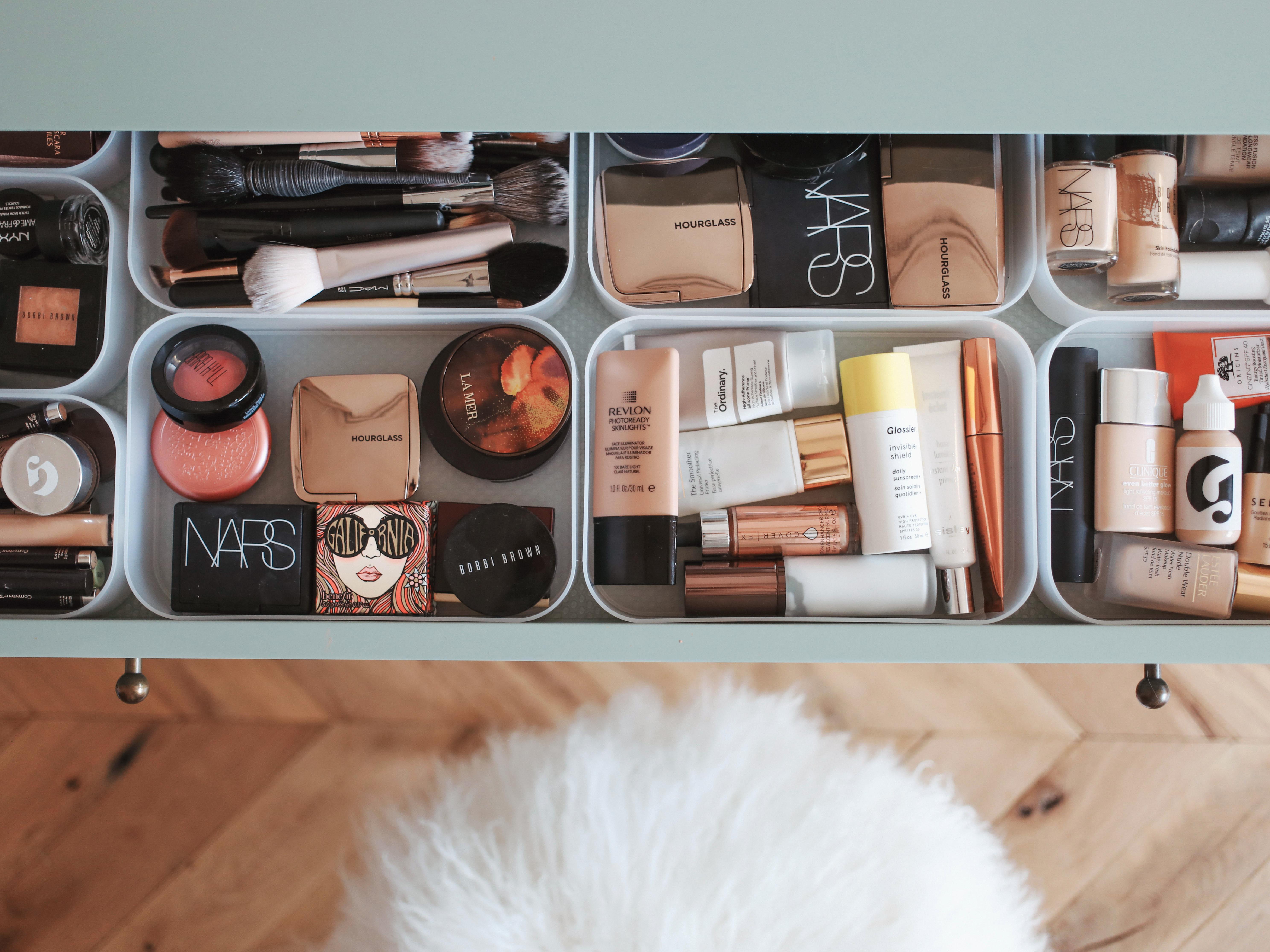 A Look At My Makeup Table Kate La Vie