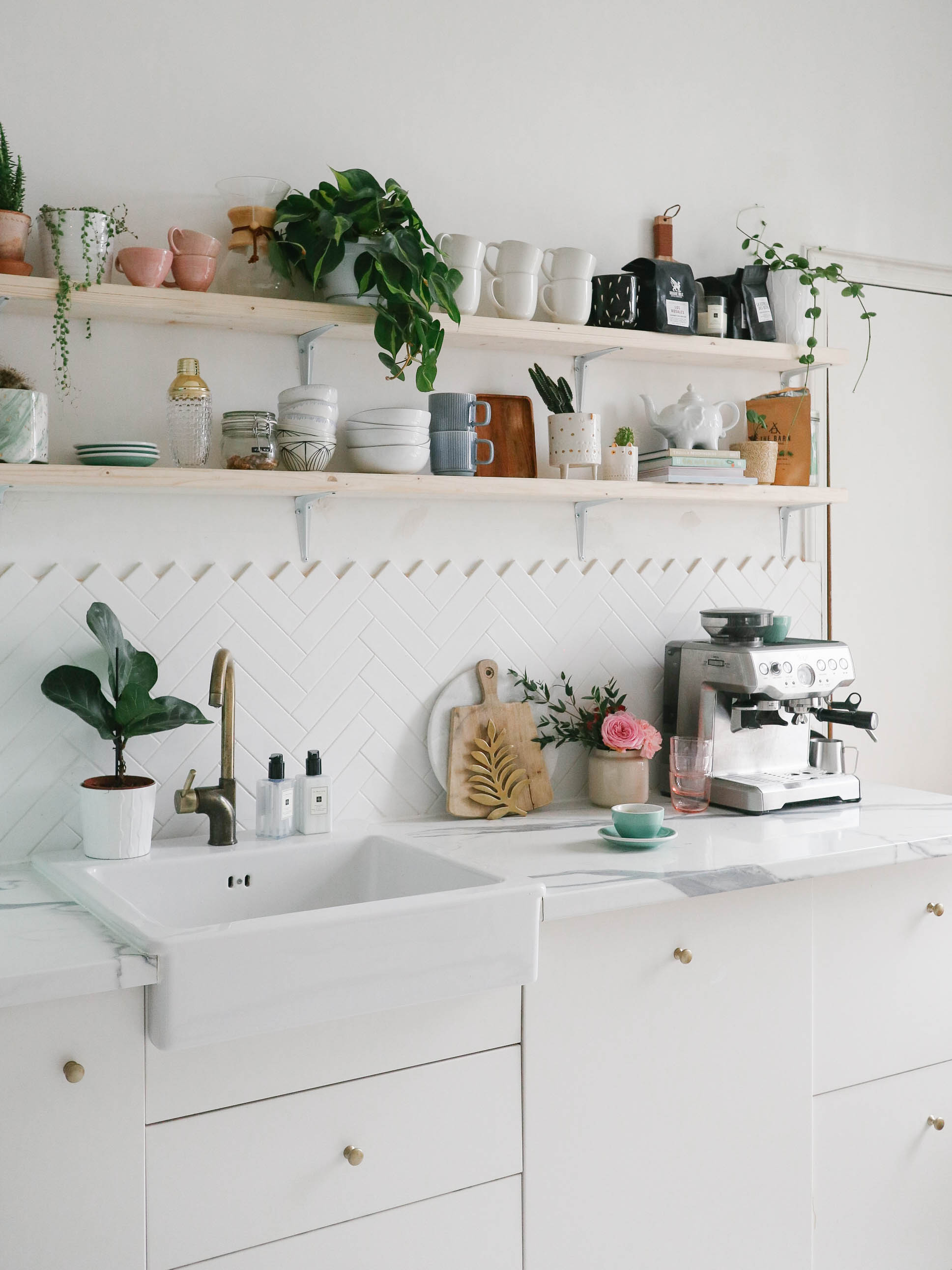 How I Refreshed Our Kitchen Shelves Kate La Vie